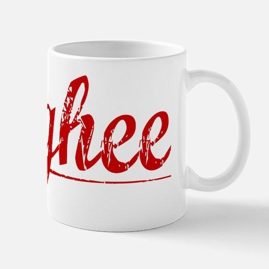 Mcghee, Vintage Red Mug