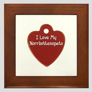 Love My Norrbottenspets Framed Tile