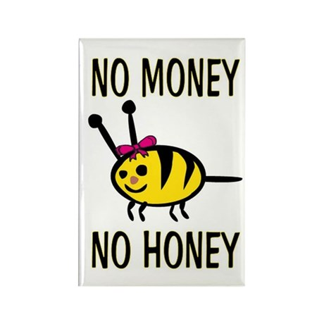 NO MONEY - NO HONEY! Rectangle Magnet