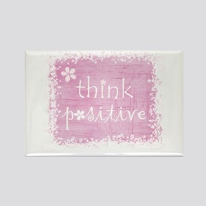 think positive Rectangle Magnet