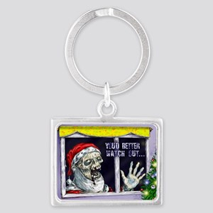 Zombie Santa is coming Landscape Keychain