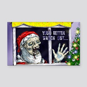 Zombie Santa is coming Rectangle Car Magnet