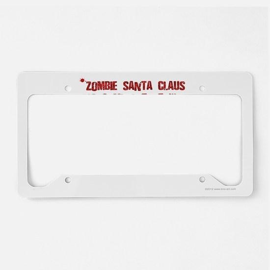 Zombie Santa (inside card) License Plate Holder
