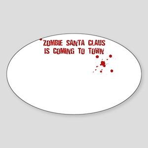 Zombie Santa (inside card) Sticker (Oval)