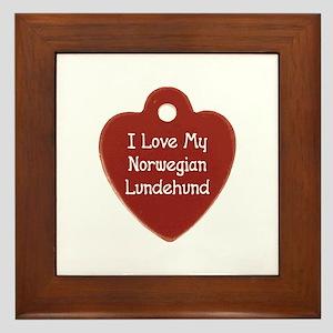 Love My Lundehund Framed Tile