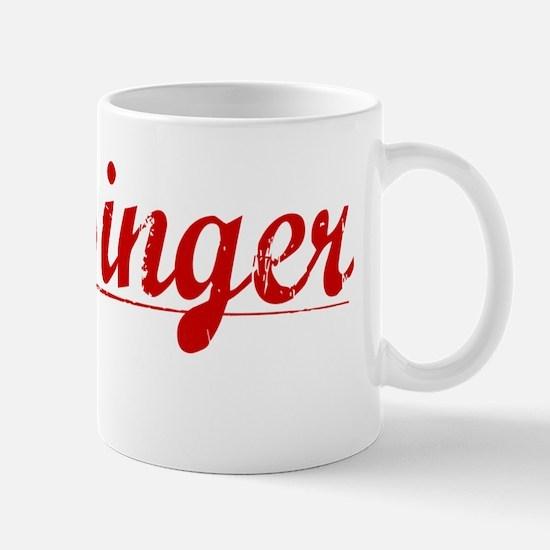 Messinger, Vintage Red Mug