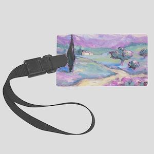 Purple mountain Painting Large Luggage Tag
