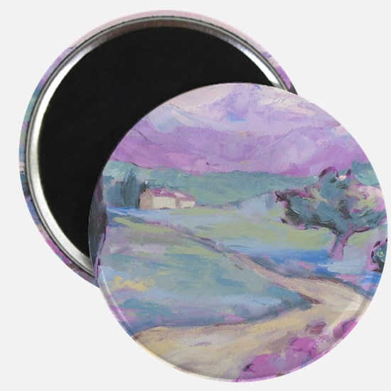 Purple mountain Painting Magnet