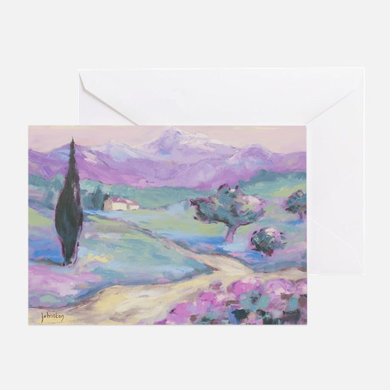 Purple mountain Painting Greeting Card