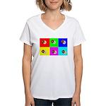 Andy Warhola Bagels Women's V-Neck T-Shirt