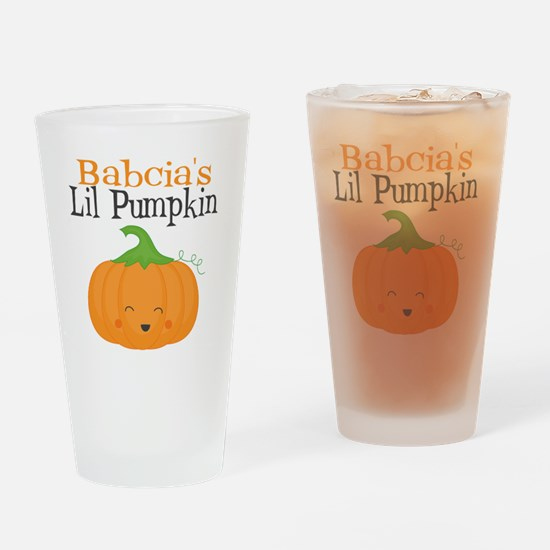 Babcias Little Pumpkin Drinking Glass