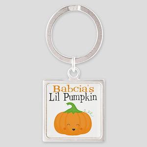 Babcias Little Pumpkin Square Keychain