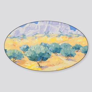 Les Baux Painting Sticker (Oval)
