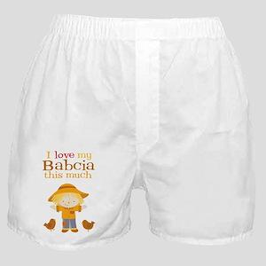 Scarecrow I Love Babcia Boxer Shorts