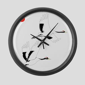 Soaring Cranes Large Wall Clock