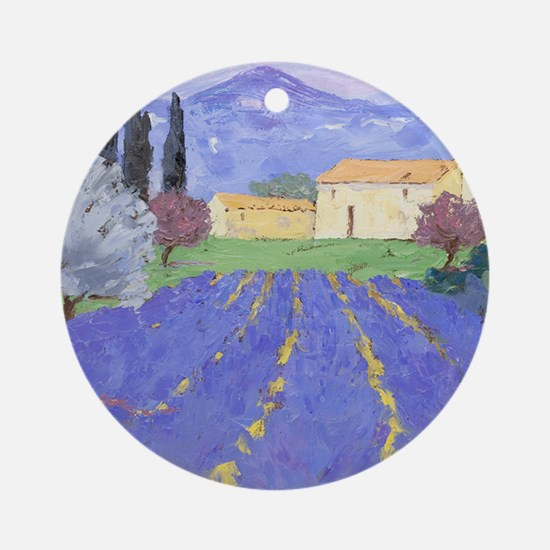 Lavender Farm Round Ornament