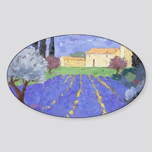 Lavender Farm Sticker (Oval)