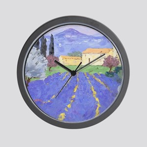 Lavender Farm Wall Clock