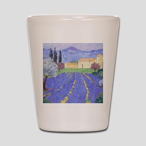 Lavender Farm Shot Glass