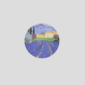 Lavender Farm Mini Button