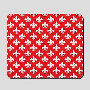 Fleur-de-lis on red Mousepad
