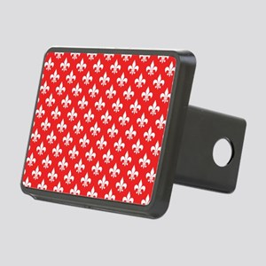 Fleur-de-lis on red Rectangular Hitch Cover