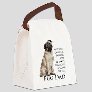Pug Dad Canvas Lunch Bag