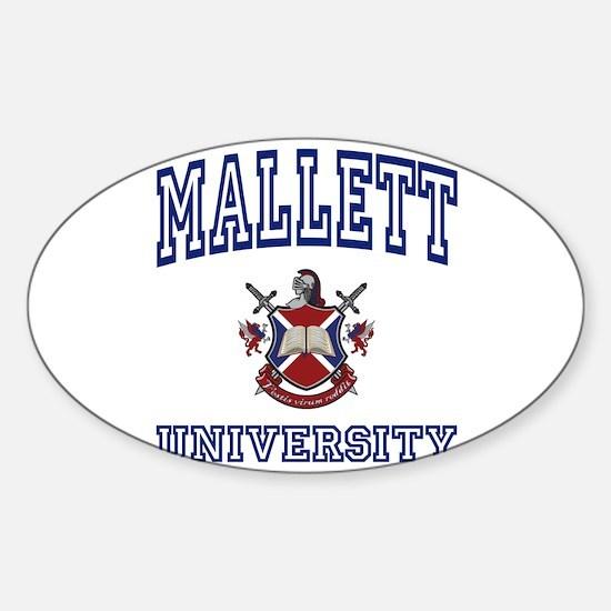 MALLETT University Oval Decal