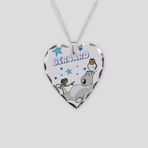 Bernard Bear Necklace Heart Charm