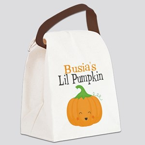 Busias Little Pumpkin Canvas Lunch Bag