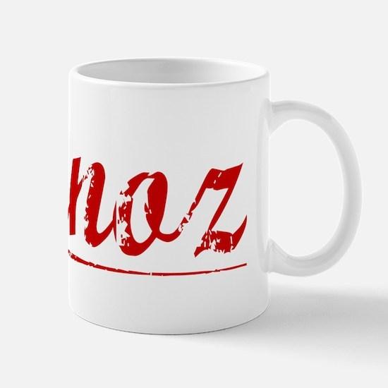 Munoz, Vintage Red Mug