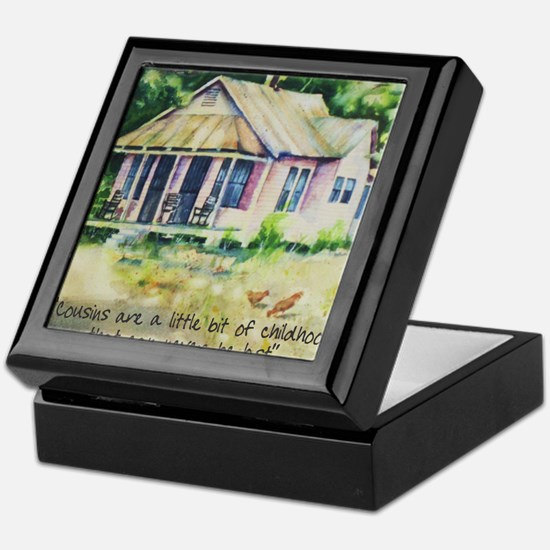 Cousin quote - a little bit of childh Keepsake Box