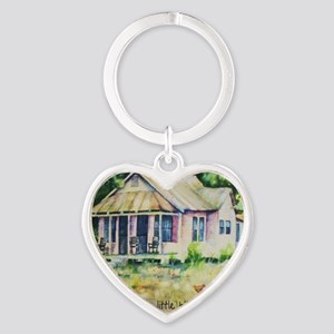 Cousin quote - a little bit of chil Heart Keychain