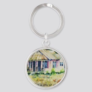 Cousin quote - a little bit of chil Round Keychain