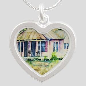 Cousin quote - a little bit  Silver Heart Necklace