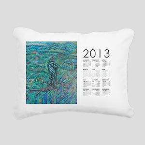 2013 Jade Steed Calendar Rectangular Canvas Pillow