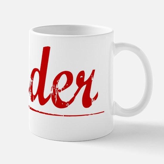 Nader, Vintage Red Mug