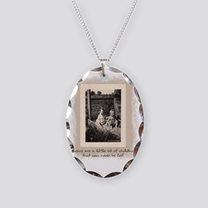 Cousins and Childhood Necklace Oval Charm