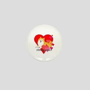 Particolor Pomeranian Mini Button