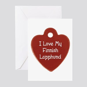 Love My Lapphund Greeting Cards (Pk of 10)