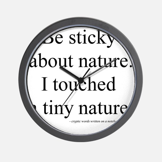 Engrish:  I Touched a Tiny Nature Wall Clock