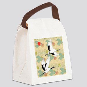 Soaring Cranes Canvas Lunch Bag
