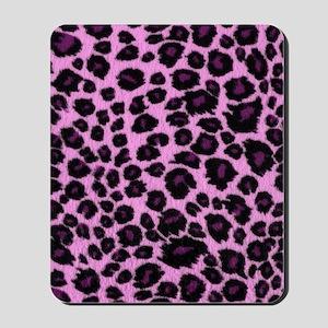 Purple Leopard Print Mousepad