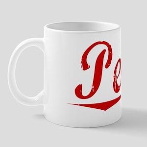 Peake, Vintage Red Mug
