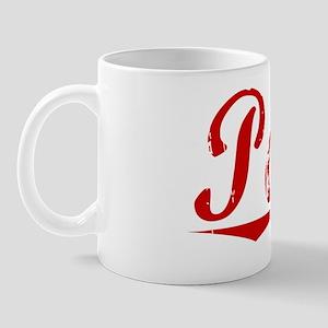 Poore, Vintage Red Mug