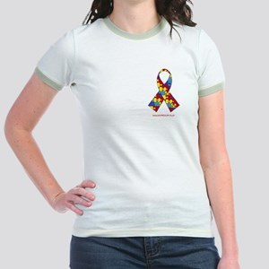 2 Sided Autism Jr. Ringer T-Shirt