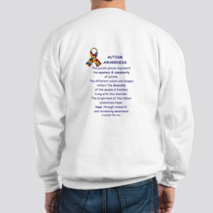 2 Sided Autism Sweatshirt