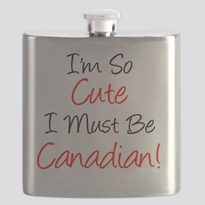 So Cute Must Be Canadian Flask