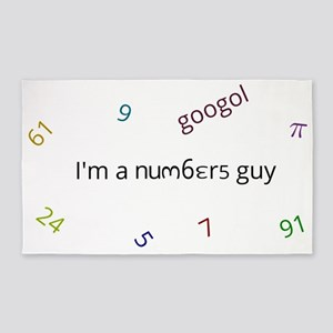 I am a numbers guy 3'x5' Area Rug