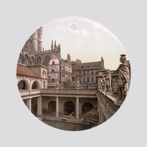 Vintage Roman Baths and Abbey Round Ornament
